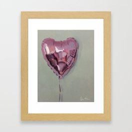 Pink Heart Balloon Framed Art Print