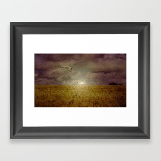When we walked in fields of gold Framed Art Print