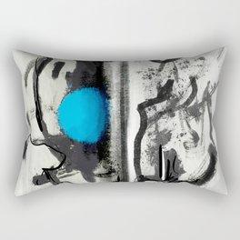 Ink Blue Abstract Rectangular Pillow