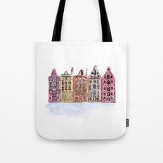 Coloured Houses Tote Bag