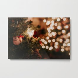 Christmas in New York; Bird in the tree at The Public Library | Colourful Travel Photography | New Y Metal Print