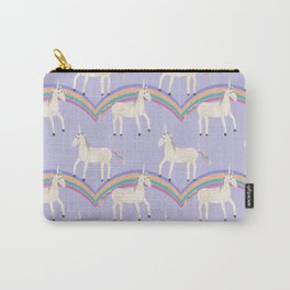 Unicorn Pattern on Pastel Purple Carry-All Pouch