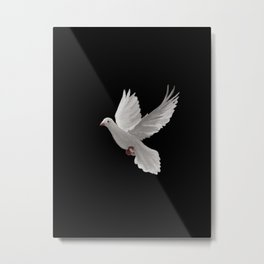 White Dove - 129 Metal Print