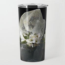 Angelica flower and Crystal Clear Quartz | AZIMA Travel Mug