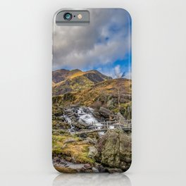 Mountain Footbridge Wales iPhone Case