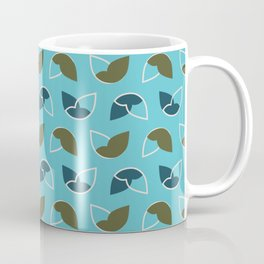 Abstract / Organic Surface Pattern (blue) Coffee Mug