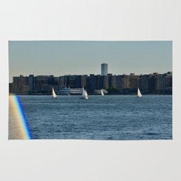 Sailing on the Hudson River Rug