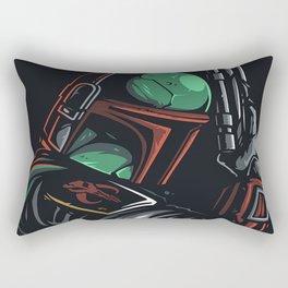 Boba Fett - BEST HUNTER FOR GALAXY HEADS Rectangular Pillow