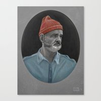 bill murray Canvas Prints featuring Bill Murray by Thomas J. Moore