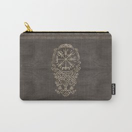 Vegvisir and Tree of life  - Yggdrasil Carry-All Pouch