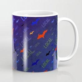 Local Upper Peninsula Electric Neon Pattern Coffee Mug