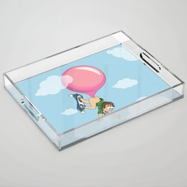 Don't Swallow Your Bubble Gum Acrylic Tray