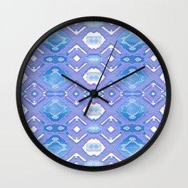 Lavender Geometric Texture Wall Clock