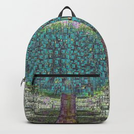 Tree Town - Magical Retro Futuristic Landscape Backpack