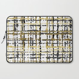 Black and Gold Loose Plaid Laptop Sleeve