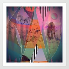 DISTORTED BOUNDARIES Art Print