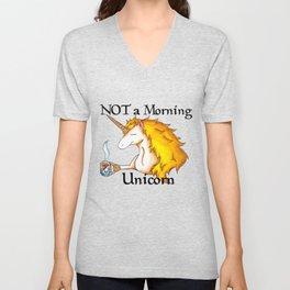 NOT a Morning Unicorn Unisex V-Neck
