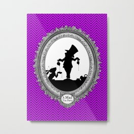 Alice's Adventures in Wonderland - Mad Tea Party Silhouette Metal Print