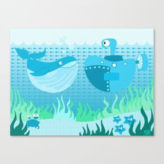 under the sea Canvas Print