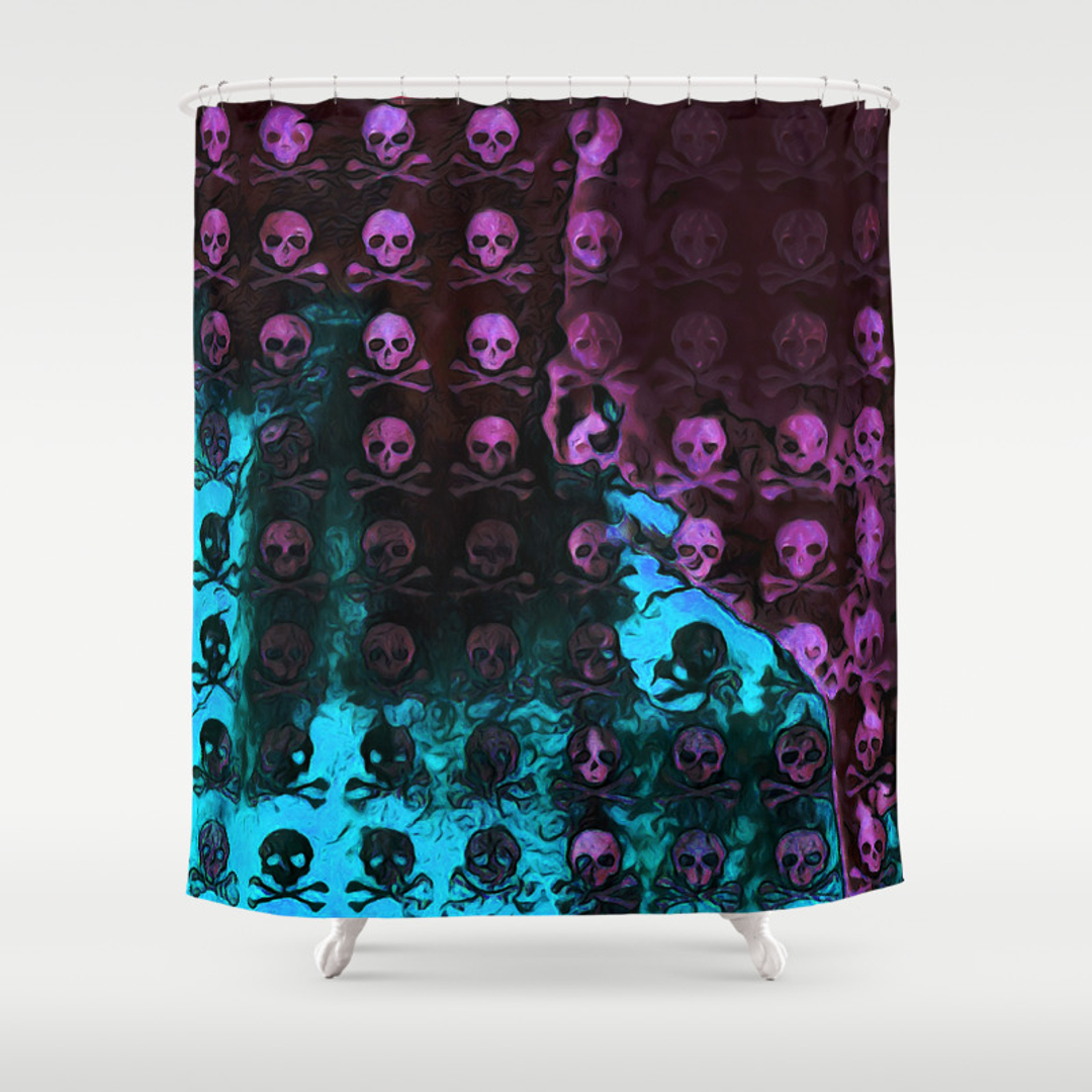 Jolly roger shower curtain - Jolly Roger Shower Curtain 1
