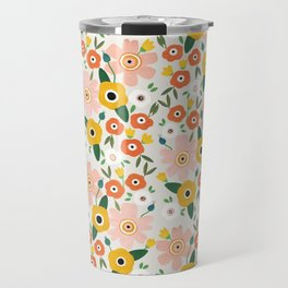 Flower Print Travel Mug
