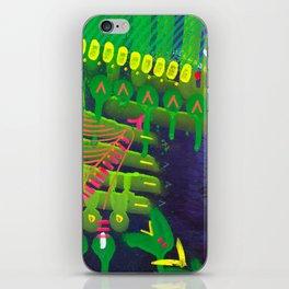 Wave green iPhone Skin