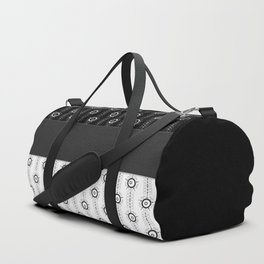 Patchwork , stripes Duffle Bag