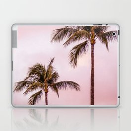 Palm Tree Photography Landscape Sunset Unicorn Clouds Blush Millennial Pink Laptop & iPad Skin