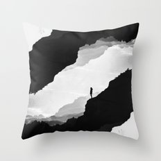 White Isolation Throw Pillow