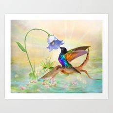 Hummingbird Heaven Art Print