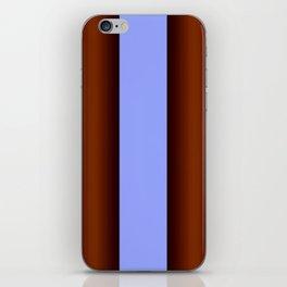 Bright Blue Brown Stripes Background iPhone Skin