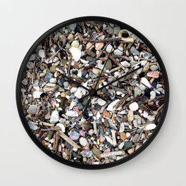 Shells and Stones Wall Clock