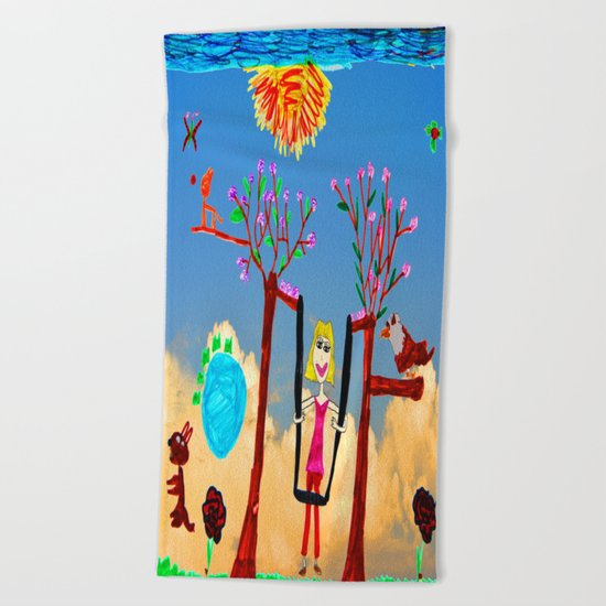 Dreaming | Playground | Up to the Clouds Beach Towel
