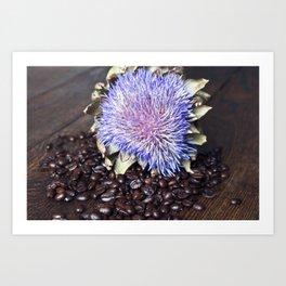 Coffeebeans & Artichoke Art Print