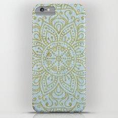 Gold Mandala on Light Blue Jeans iPhone 6 Plus Slim Case