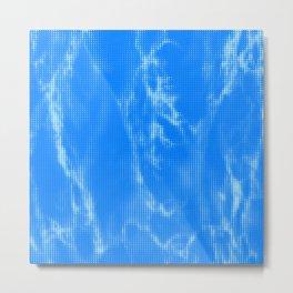 Blue Marble Halftone Metal Print