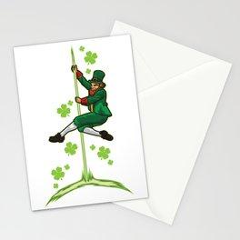Pole Dance Leprechaun - Pole Fitness Ireland Lucky Stationery Cards