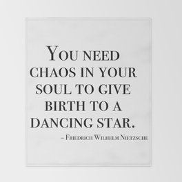 You need chaos in your soul Throw Blanket