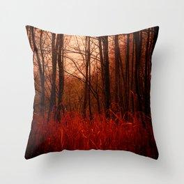 Strangeness. Dusk in the Woods. Throw Pillow