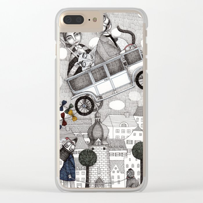 Going on Holiday Clear iPhone Case