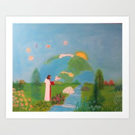 In The Beginning of The Heaven and Earth Acrylic Painting by Rosie Foshee Art Print