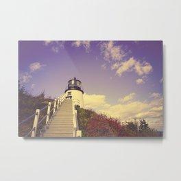Maine Coast Lighthouse Metal Print