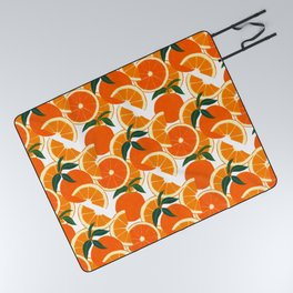 Orange Harvest - White Picnic Blanket