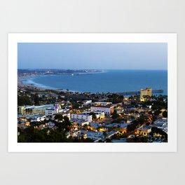 Down town Ventura, CA. Kunstdrucke