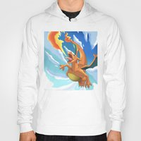 charizard Hoodies featuring Charizard by Pablo Rey