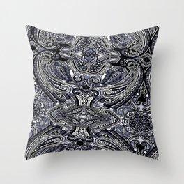 Blu Paisley 1 Throw Pillow