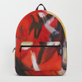 Red Sonja - Red Yellow Abstract Painting Backpack