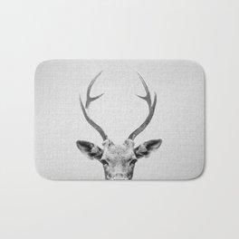 Deer - Black & White Bath Mat