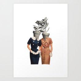 Succulent Sisters Art Print