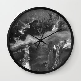 Black and White Lightning Wall Clock